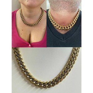 HarlemBling 14k Gold Over SS HipHop Chain Necklace
